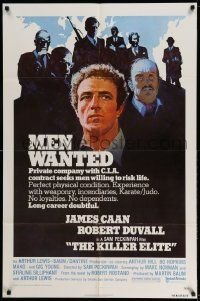 2g463 KILLER ELITE 1sh '75 James Caan & Robert Duvall, directed by Sam Peckinpah!