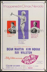 2g467 KISS ME, STUPID 1sh '65 directed by Billy Wilder, Kim Novak, Dean Martin, Ray Walston!