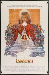 2g472 LABYRINTH 1sh '86 Jim Henson, art of David Bowie & Jennifer Connelly by Ted CoConis!