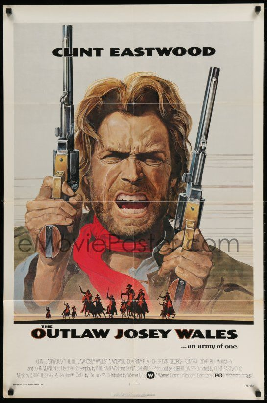 eMoviePoster com: 2g637 OUTLAW JOSEY WALES NSS style 1sh '76