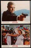 2h040 NEVER SAY NEVER AGAIN 8 8x10 mini LCs '83 Sean Connery as James Bond, sexy Kim Basinger