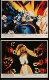 2h072 ROCK & RULE 7 8x10 mini LCs '83 cool rock 'n' roll cartoon, the movie you can feel!