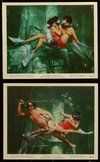 2h079 UNDERWATER 7 color from 7x9 to 8x10 stills '55 Howard Hughes, skin diver Jane Russell, Roland