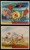 2h061 WINNIE THE POOH & THE BLUSTERY DAY 8 color English FOH LCs '69 A.A. Milne, Tigger, Piglet!
