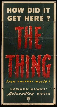 2j272 THING 3sh '51 Howard Hawks classic horror, first time that we have offered a complete version!