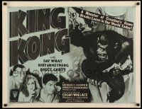 2j005 KING KONG 1/2sh R52 he's holding Fay Wray on Empire State Building + headshots of top stars!