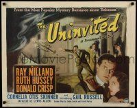 2j006 UNINVITED 1/2sh '44 Ray Milland, Ruth Hussey, introducing Gail Russell, cool art!