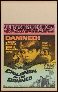 2j014 CHILDREN OF THE DAMNED WC '64 damned by their diabolical power to destroy the world!