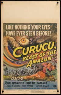 2j015 CURUCU, BEAST OF THE AMAZON WC '56 Universal horror, great monster art by Reynold Brown!