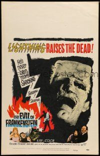 2j016 EVIL OF FRANKENSTEIN WC '64 Cushing, Hammer, he's back & no one can stop him!