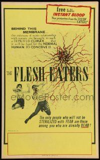 2j038 FLESH EATERS Benton WC '64 you will be taken to a point between life & death!