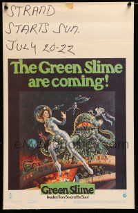 2j017 GREEN SLIME WC '69 classic cheesy sci-fi movie, art of sexy astronaut & monster by Vic Livoti