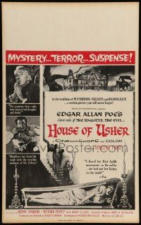 2j041 HOUSE OF USHER Benton WC '60 Poe's tale of the ungodly & evil, art by Reynold Brown!