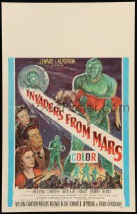 2j019 INVADERS FROM MARS WC '53 Menzies classic, hordes of green monsters from outer space, rare!