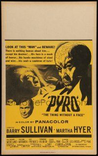 2j044 PYRO: THE THING WITHOUT A FACE Benton WC '63 nothing human about him except his desires!