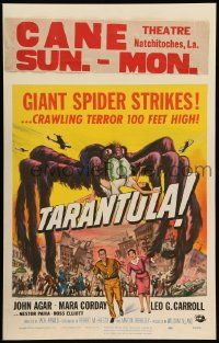 2j025 TARANTULA WC '55 Reynold Brown art of town running from 100 foot high spider monster!