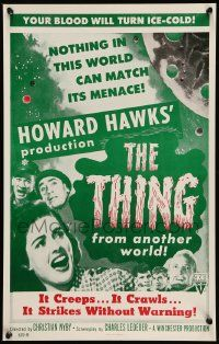 2j050 THING Benton REPRO WC '90s Howard Hawks astounding classic horror from another world!
