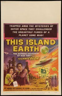 2j029 THIS ISLAND EARTH WC '55 they challenged the unearthly furies of a planet gone mad!