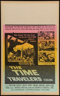 2j047 TIME TRAVELERS Benton WC '64 cool Reynold Brown sci-fi art of the crack in space and time!