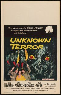 2j030 UNKNOWN TERROR WC '57 they dared enter the Cave of Death to explore the secrets of HELL!