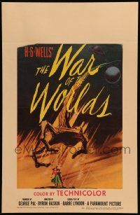 2j031 WAR OF THE WORLDS WC '53 H.G. Wells classic produced by George Pal, best sci-fi artwork!