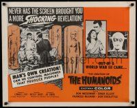 2k014 CREATION OF THE HUMANOIDS 1/2sh '62 can he control machines that produce people!