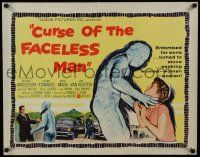 2k016 CURSE OF THE FACELESS MAN 1/2sh '58 volcano man of 2000 years ago stalks Earth to claim girl