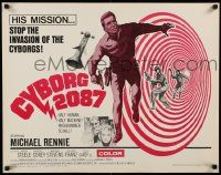 2k017 CYBORG 2087 1/2sh '66 Michael Rennie must stop the invasion of the cyborgs, cool sci-fi!