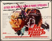 2k019 FIVE MILLION YEARS TO EARTH 1/2sh '68 cities in flames, world panic spreads, art by Allison!