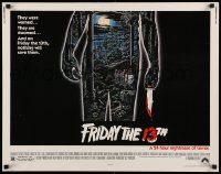 2k020 FRIDAY THE 13th 1/2sh '80 great Alex Ebel art, slasher classic, 24 hours of terror!