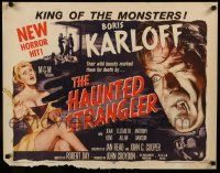 2k024 HAUNTED STRANGLER style A 1/2sh '58 Boris Karloff marked their death by their wild beauty!