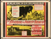 2k026 HORROR OF PARTY BEACH/CURSE OF THE LIVING CORPSE 1/2sh '64 great monster images!
