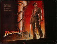 2k029 INDIANA JONES & THE TEMPLE OF DOOM 1/2sh '84 adventure is Ford's name, Bruce Wolfe art!