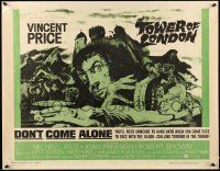 2k043 TOWER OF LONDON 1/2sh '62 Vincent Price, Roger Corman, montage of horror artwork!