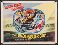 2k045 UNDERWATER CITY 1/2sh '62 William Lundigan, the world of inner space, scuba diving sci-fi!