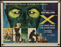 2k048 X: THE MAN WITH THE X-RAY EYES 1/2sh '63 Ray Milland strips souls & bodies, cool art!