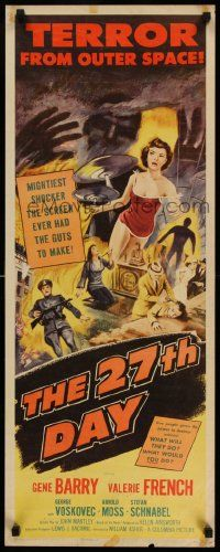 2k049 27th DAY insert '57 terror from space, mightiest shocker they ever had the guts to make!