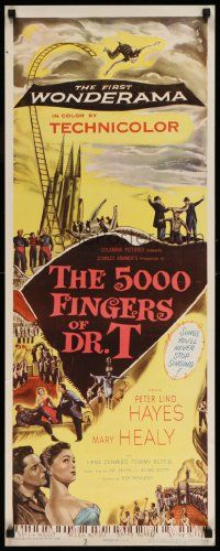 2k050 5000 FINGERS OF DR. T insert '53 Peter Lind Hayes, Mary Healy, Conried written by Dr. Seuss!