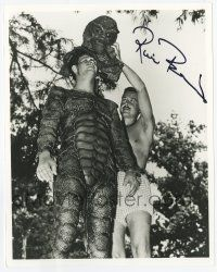 2m063 RICOU BROWNING signed 8x10 REPRO still '90s getting his Creature from the Black Lagoon head!