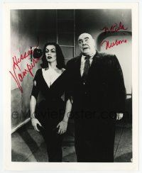 2m064 VAMPIRA signed 8x10 REPRO still '80s with Tor Johnson in Plan 9 From Outer Space!