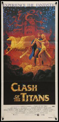2m020 CLASH OF THE TITANS Aust daybill '81 Ray Harryhausen, art by Greg & Tim Hildebrandt!