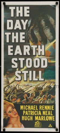 2m021 DAY THE EARTH STOOD STILL Aust daybill R70s Robert Wise, art of giant hand & Patricia Neal!