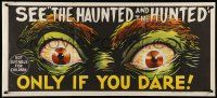 2m023 DEMENTIA 13 teaser Aust daybill '63 Coppola, The Haunted & the Hunted, creepy eyes art!