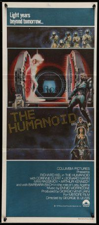 2m030 HUMANOID Aust daybill '79 wacky Italian Star Wars rip-off, light years beyond tomorrow!