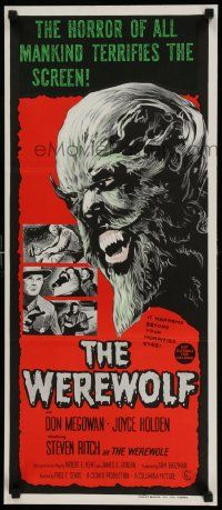 2m045 WEREWOLF Aust daybill '70s different wolfman art, it happens before your horrified eyes!