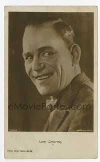 2m004 LON CHANEY SR German Ross postcard '20s smiling portrait in suit & tie of the horror legend!