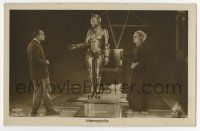 2m001 METROPOLIS German Ross postcard '27 best image of Brigitte Helm as robot, Klein-Rogge & Abel