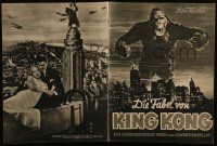2m013 KING KONG German program '33 classic image of giant ape looming over New York City!