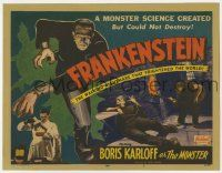2m238 FRANKENSTEIN TC R51 art of Boris Karloff as the walking nightmare that frightened the world!