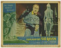 2m050 RAVEN signed LC #2 '63 by Vincent Price, who has the bird perched on his shoulder!